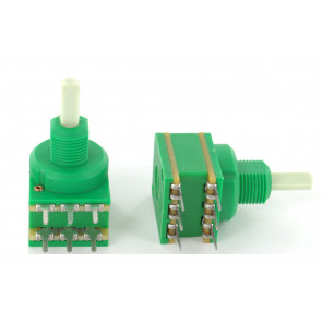Potentiometer 10KA (Lin) dual + Center lock D-shaft 4mm for Eela audio mixers