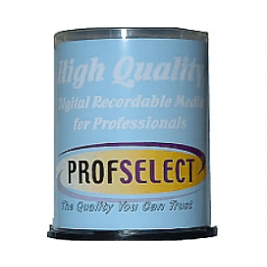 CD-R 80min 52X Profselect 100 pieces full white inkjet printable