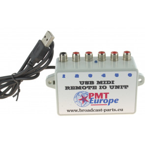 USB knop start unit MIDI IO unit 6 input