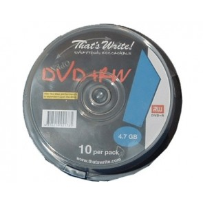 DVD+RW 4.7GB 4X Thats Write 10 pieces