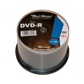 DVD-R 4.7GB 8X Thats Write 50 pieces