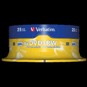 DVD+RW 4.7GB 4X Verbatim 25 pieces