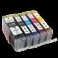 Canon CLI-571 / PGI-570 discount set + chip (own brand)