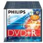 DVD+R 4.7GB 16X Philips 10 pieces slim case