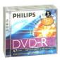 DVD-R 4.7GB 16X Philips 5 pieces jewelcase