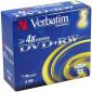 DVD+RW 4.7GB 4X Verbatim 5 pieces in jewelcase (43229)